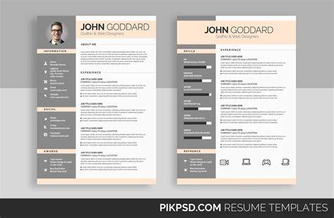Set Resume Template by Ready 3 Resume Cv Set Resume Templates Creative