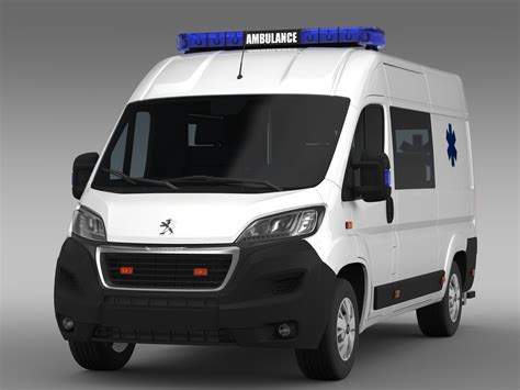 peugeot van boxer peugeot boxer van ambulance 2015 3d model max obj 3ds fbx