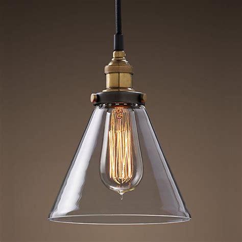 Vintage Pendant Lighting by Modern Vintage Industrial Metal Glass Ceiling Light Shade