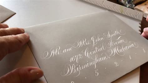 wedding envelope calligraphy copperplate modern script