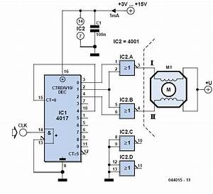 Stepper Motor Generator Schematic Circuit Diagram 1