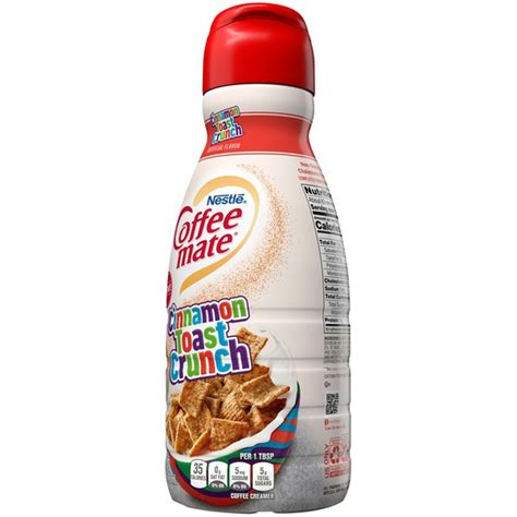 That's why we teamed up with cinnamon toast crunch™ to give you exactly what you crave—sweet and cinnamon deliciousness right in your cup. Nestlé Coffee Mate Cinnamon Toast Crunch Liquid Coffee Creamer (32 oz) - Instacart