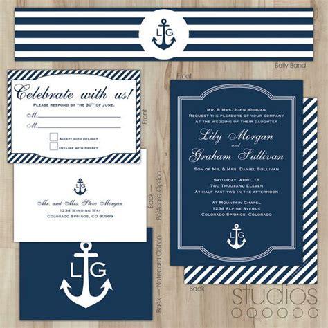 nautical wedding invitation wedding ideas