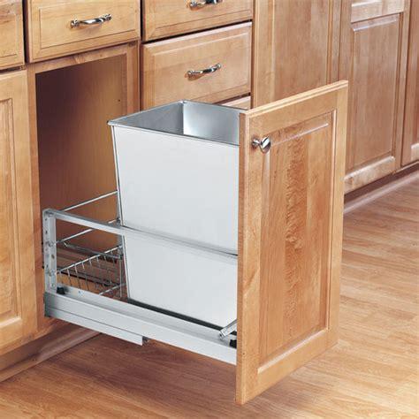 rev  shelf premiere single bin pull  waste