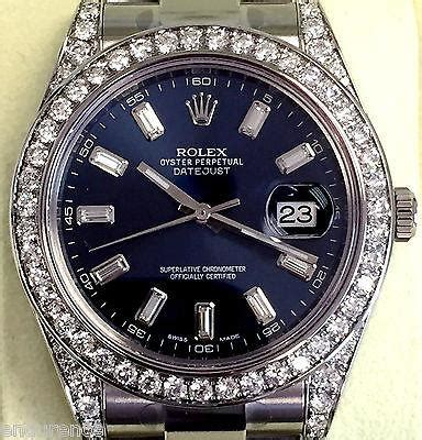 rolex mens datejust ii  mm steel model  diamond