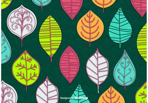 Abstract Leaves Vector Wallpaper  Download Free Vector