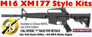 Model 1 Sales  M16 Xm177 Style Kits