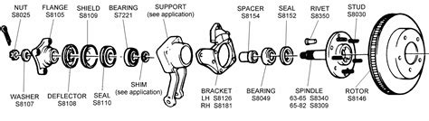 Rotor Assembly Diagram View Chicago Corvette Supply