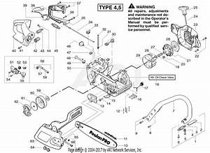 Poulan Pp260 Gas Saw Type 5  260 Gas Saw Type 5 Parts Diagram For Starter Type 4