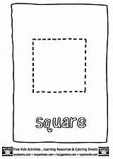 Square Coloring Shape Pages Worksheets Preschoolers Preschool Printable Worksheet Getcoloringpages Squares Coloringtop sketch template