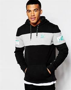Puma Throwbacks Hoodie in Black for Men | Lyst