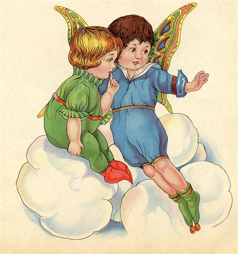 Super Sweet Vintage Fairy Images With Children The