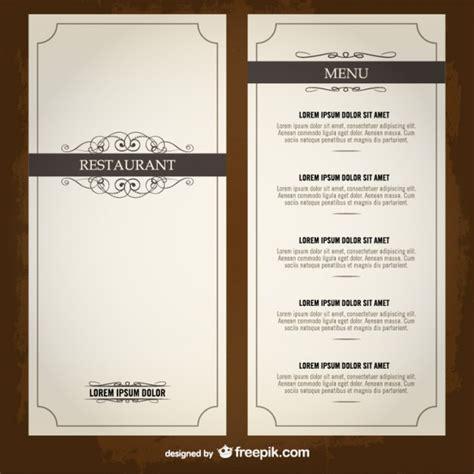 modele cuisine cagne modèle de restaurant liste du menu alimentaire