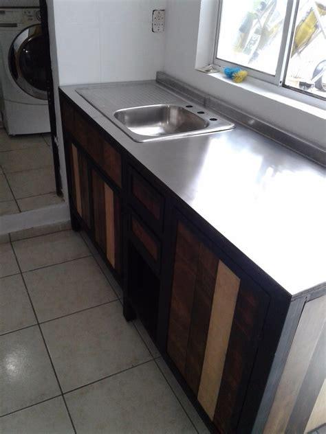 muebles cocina  la medida madera metal inoxidable  en mercado libre