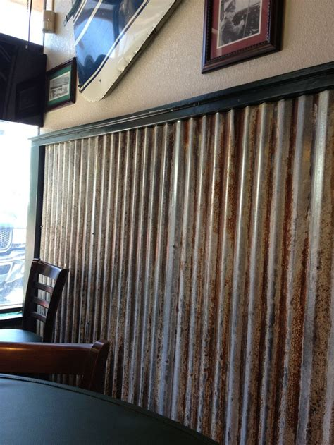 tin chair rail option rustic room boy room accent wall