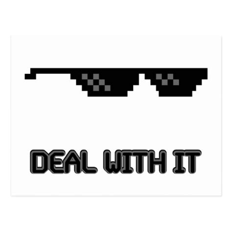 Meme Sunglasses - deal with it sunglasses postcard zazzle