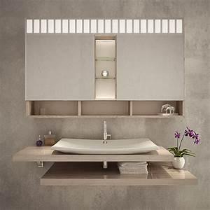 Bad Spiegelschrank Beleuchtet : lyon spiegelschrank bad beleuchtet online kaufen ~ Frokenaadalensverden.com Haus und Dekorationen