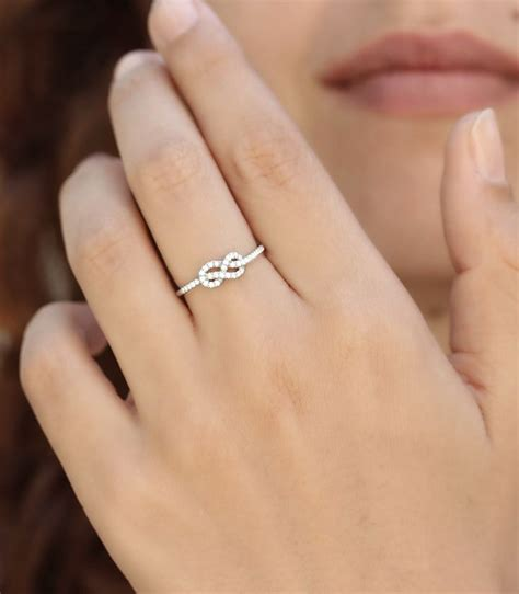silver wedding bands infinity knot ring wedding band