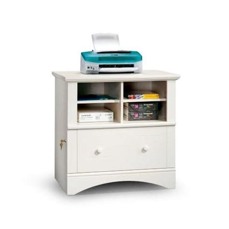 Sauder File Cabinet White by