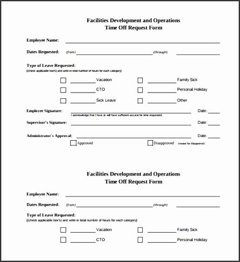 16839 time request forms 4 time request form template sletemplatess