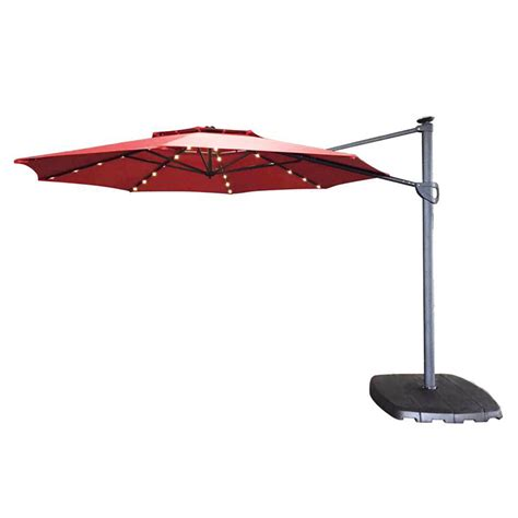 offset umbrella with solar lights offset patio umbrella with solar lights solar lights