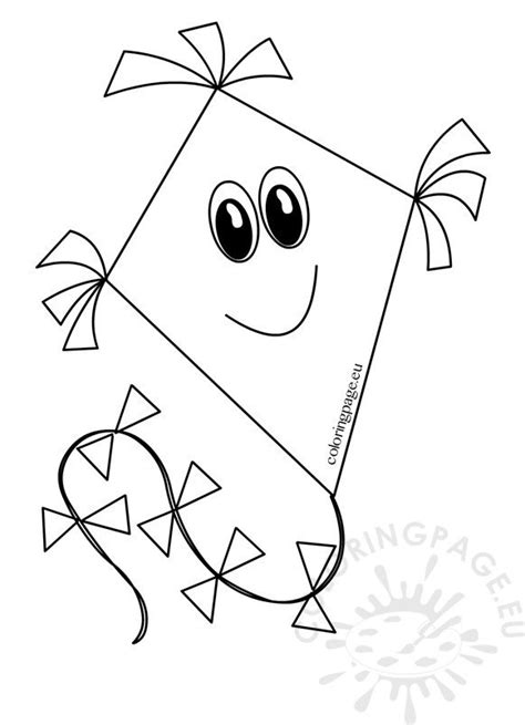 kite cartoon images coloring page