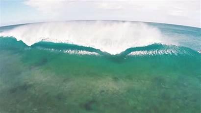 Water Breaking Aerial Oahu Wave Ocean Perfect