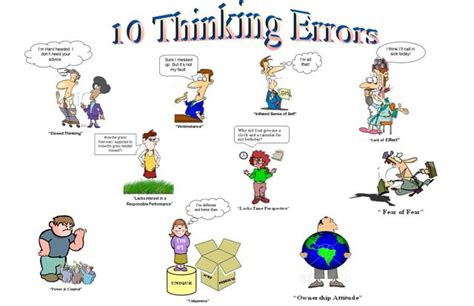 cbt thinking errors worksheet thinking errors east allen county schools