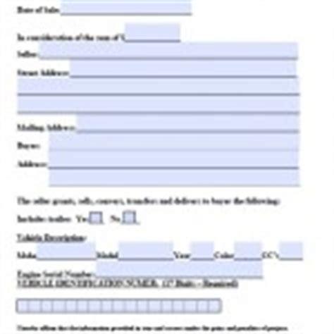 Mass Boat Registration Bill Of Sale by Download Massachusetts Bill Of Sale Forms Wikidownload
