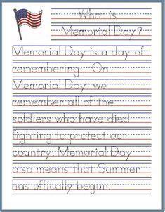memorial day handwriting worksheet  images
