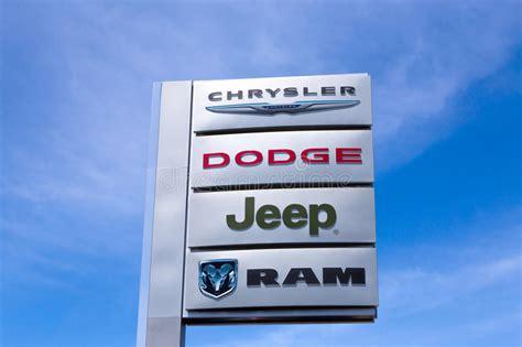 Chrysler Motor Company Stock by Chrysler Automobile Dealership Editorial Stock Image