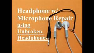 Headphone W   Microphone Repair  Unbroken Headphone Set