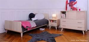 mobilier enfant et bebe en bois massif par zinezoe With chambre bébé design avec meuble a fleur