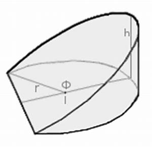 Rauminhalt Berechnen Liter : zylinderkeil geometrie rechner ~ Themetempest.com Abrechnung