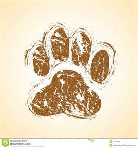 Dirty Dog Paw Prints
