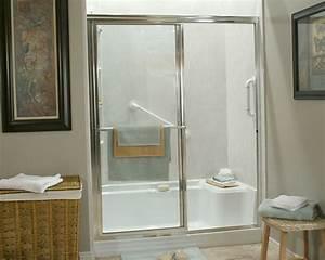 Tub shower conversion bath creations by bath crest for Bathroom conversions for elderly