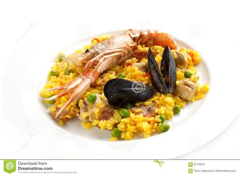 cuisine traditionnelle espagnole paella espagnole traditionnelle de nourriture photo stock