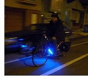 Pimp your ride Coloured neon lights for bicycles