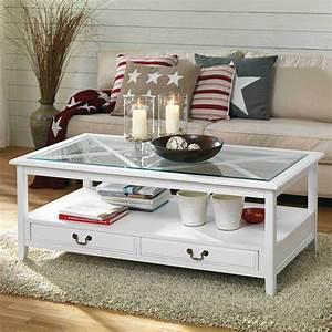 Wohnzimmer In Weiß : wohnzimmer couchtisch rojito in wei kiefer glas ~ Orissabook.com Haus und Dekorationen