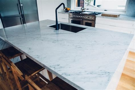 kitchen sink with marble top carrara marble kitchen cremorne home