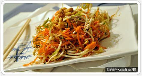 recette soja cuisine recette graines germées salade de pousses de soja