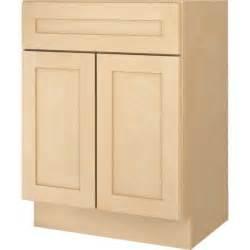 bathroom vanity base cabinet natural maple shaker 24 quot wide