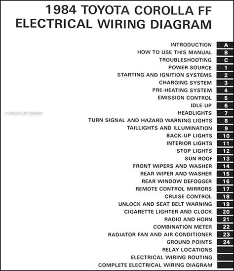 Toyota Corolla Fwd Wiring Diagram Manual Original