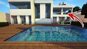Minecraft Cidade Moderna Casa Moderna 02 PISCINA