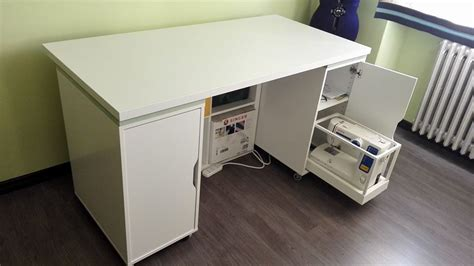 used bedroom furniture smart sewing table with sliding tray for sewing machine