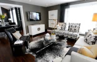 Modern Black And White Living Room Picture