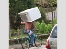 Kühlschrank mit Fahrrad transportieren