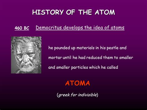 Atomic Structure, History Of The Atom  Presentation Chemistry Sliderbase