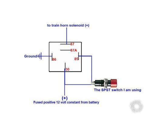 Neg Relay Switch Wiring Diagram by Horns Triggered By Alarm