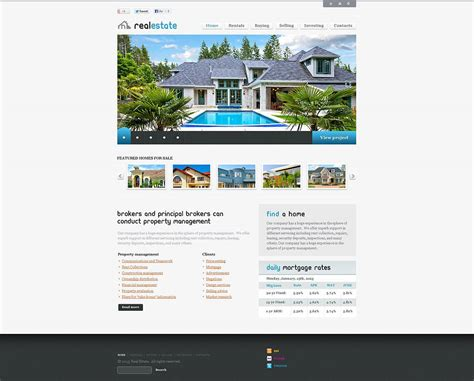 cms template real estate agency flash cms template 45655
